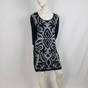 Style & Co Knit Sweater Dress Womens Size XL Black